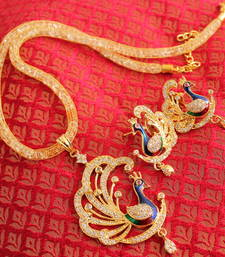 Buy Beautiful cz meenakari designer necklace set - DJ08908 necklace-set online