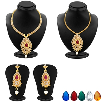 Magnificent Necklace Set Detachable to Pendant Set with Chain