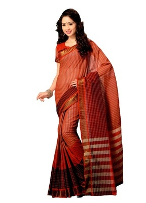 red maheshwari saree with blouse