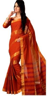 red maheshwari saree with blouse