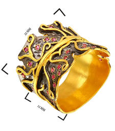 Buy 0.9 ct yellow  and black studded jewellery gemstone rings gemstone-ring online