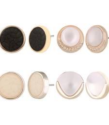 Buy Combo of Trendy Fancy Party Wear Stud Earrings for Girls and Women (Pack of 4) combo-earring online