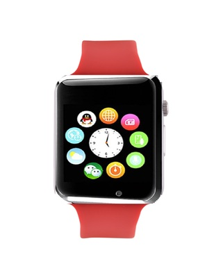 Red Square Dial Bluetooth Smart Watch With Camera and Sim Card