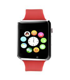 Buy Red Square Dial Bluetooth Smart Watch With Camera and Sim Card watch online