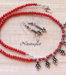 Buy Tribal ethnic oxidised necklace set necklace-set online