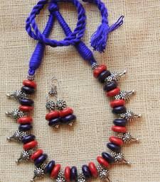 Buy Tribal ethnic oxidised necklace necklace-set online