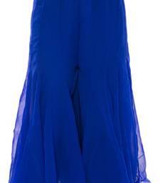 Buy Royalblue plain chiffon fabric free size palazzo pants palazzo-pant online