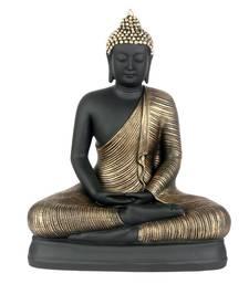 Buy India  Antique Meditation Buddha (Gold/Black) sculpture online