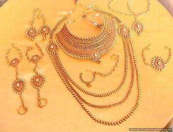 Gold Look Kundan Bridal Necklace Set