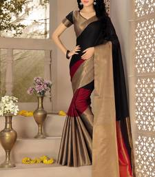 Buy Multicolor printed cotton silk saree with blouse cotton-silk-saree online