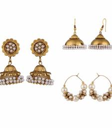 Buy Multicolor metallic combo earrings combo-earring online