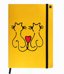 Buy Premium Diary Yellow Leather Hardbound Cover Classic Diary stationery online