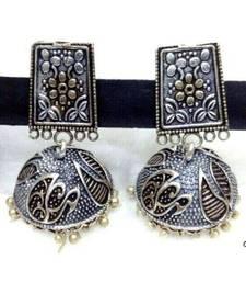 Buy Silver  plated jhumkas jhumka online