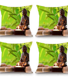 Buy Zen Buddhism HD Digital Premium Cushion Cover - Set of 4 (16 x 16 Inch) pillow-cover online