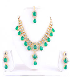 Buy Green diamond necklace-sets necklace-set online