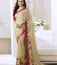 Buy Beige printed georgette saree with blouse georgette-saree online