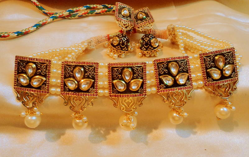 Buy Royal Designer Markesh Gold Plated Chokar Online