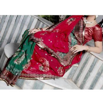 Lehanga Style Saree