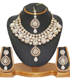Buy White cubic zirconia necklace-sets necklace-set online