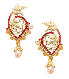 Buy Maroon diamond earrings Earring online