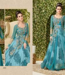 Buy Blue embroidered banglori silk salwar with dupatta black-friday-deal-sale online