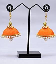 Buy Orange pearl earrings Earring online