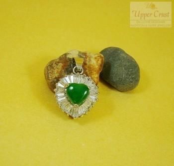 Little Heart Green Onyx Pendent Locket