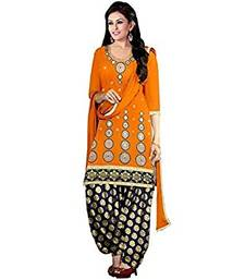 Buy Orange embroidered cotton salwar with dupatta salwar-kameez-below-2000 online