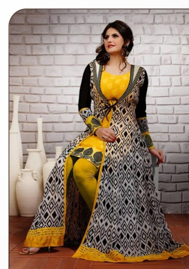 Buy Zarin khan in designer party wear salwar kameez with long ...