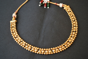 Gold Tone Choker Copper Necklace