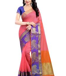 Buy Multicolor hand woven banarasi silk saree with blouse banarasi-silk-saree online