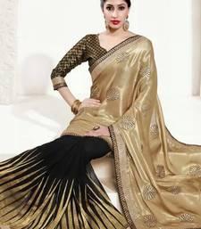 Buy MANJULA'S GOLD BLACK SAREE wedding-season-sale online