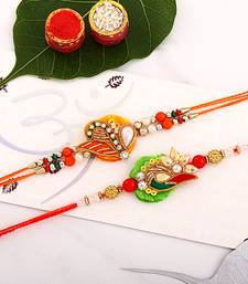 Buy Meenakari Designer Mauli  Rakhi Set mauli-rakhi online