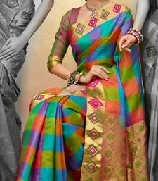 Buy multicolor Women's Zarna Silk Bollywood Designer sarees georgette-saree online