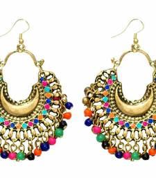 Buy Banjara Multicolored Chandbalis - Gold danglers-drop online