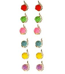 Buy Multicolor studded_jewellery gemstone-earrings gemstone-earring online