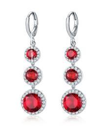 Buy Red cubic zirconia earrings Earring online