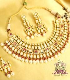 Buy Ruby Kundan Meenakari Choker Necklace Set  necklace-set online