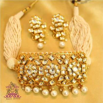 Royal kundan & Pearl Choker Necklace Set