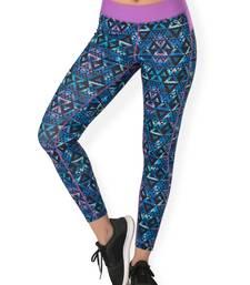 Buy Black Mosaic workout gym wear Full Legging workout-gym-wear online