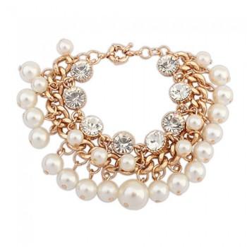 Pearl Charm Bracelet