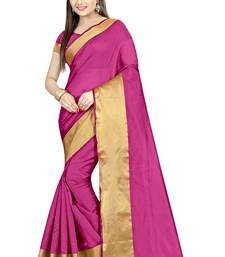 Buy Pink plain dupion silk saree with blouse dupion-saree online