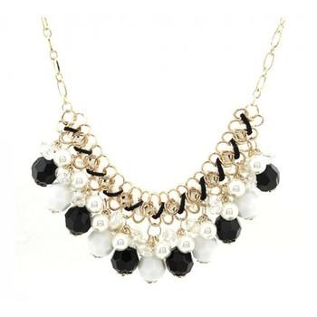 Black Bohemia crystal pearl Necklace
