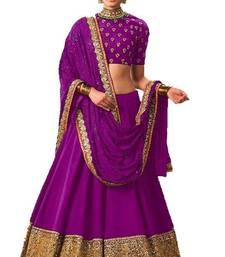 Buy Purple banglori silk embroidered lehenga with dupatta lehenga-below-2000 online