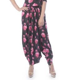 Buy Vedic Women's Black and Pink Dhoti Pants dhoti online
