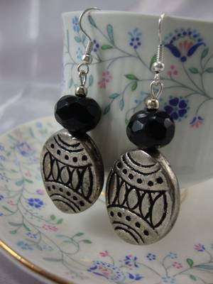 The Black and Silver Earrings