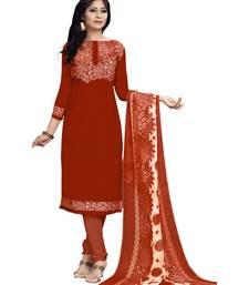 Buy Orange printed chiffon salwar with dupatta salwar-kameez-below-300 online