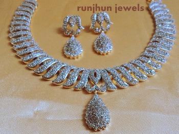 gorgeous cz necklace set