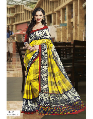 Styloce Multi Color Bhagalpuri Silk Saree-STY-106-11415
