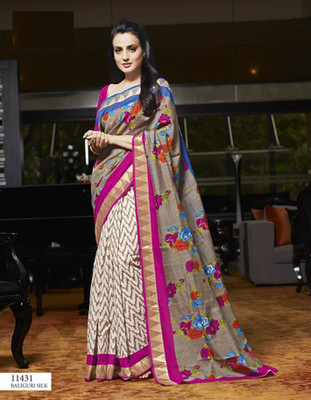 Styloce Multi Color Bhagalpuri Silk Saree-STY-106-11431